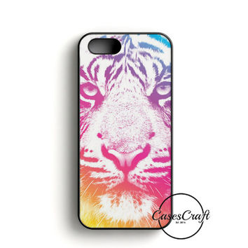 Colorful Indie Tiger iPhone 5/5S/SE Case