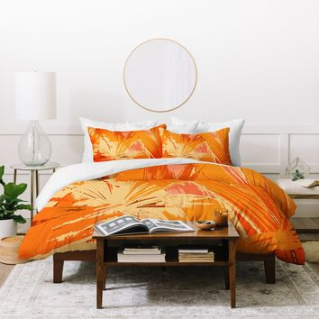 Rosie Brown Palm Explosion Duvet Cover