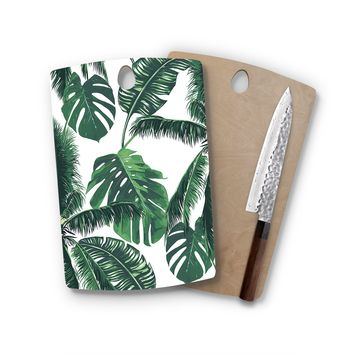 Shady Palm Trees Rectangle Cutting Board Trendy Unique Home Decor Cheese Board