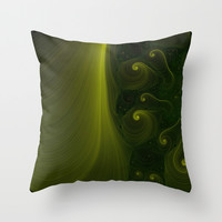 Emerald Creation Throw Pillow by Eric Rasmussen