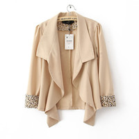 Product search_Sleeve Wave Lapel Suit Beige_udobuy - Fashion Dress with Free Shipping