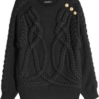 Wool Pullover with Embossed Buttons - Balmain | WOMEN | KR STYLEBOP.COM