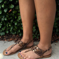 Island Girl Sandals - Brown