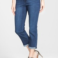 Women's Liverpool Jeans Co. 'Michelle' Roll Cuff Stretch Capri Jeans,