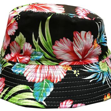 Fashion Flowers Bucket Hat For Mens ,Womens