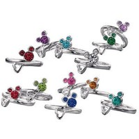 Avon Mickey Mouse Birthstone Ring - August - Peridot color