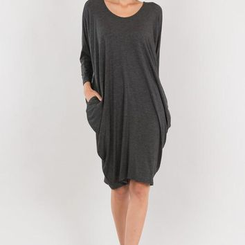 The Slouch Dress - Charcoal - Available in 3 Colors