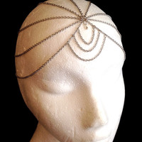 Silver dangle gypsy bohemian bellydance headdress