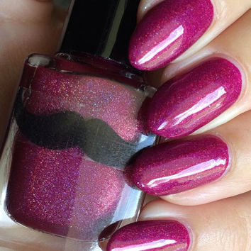 Treat Yo'Self- Berry Pink Purple Holographic Creme Nail Polish