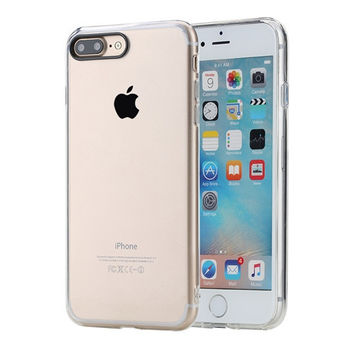 Pure Series Hard Back case for iPhone 7/ 7 Plus Crystal Clear Phone case for iPhone7 hard back case with soft edge -0315