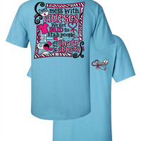 Southern Couture Funny Don't Mess With Nurses Nurse Girlie Bright T Shirt