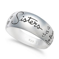 Unwritten Sterling Silver Ring, Sisters Script Ring - Rings - Jewelry & Watches - Macy's