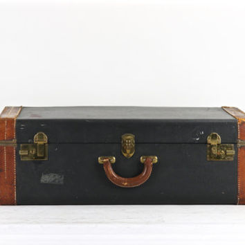 Vintage Blue Suitcase, Vintage Suitcase, Suitcase, Blue Suitcase, Old Suitcase, Luggage, Old Luggage, Antique Suitcase, Large Suitcase