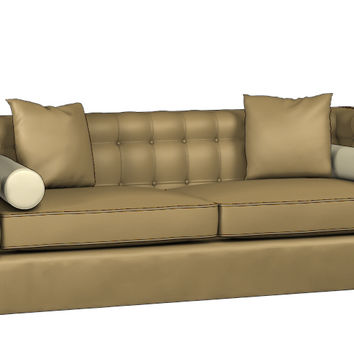 Custom Lazar Industries Tommy Leather Queen Size Sleeper Sofa