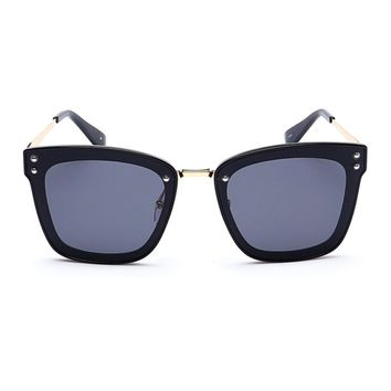 The Nasty Woman Unisex Polarized Wayfarer Sunglasses - Black
