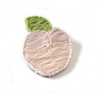 Lucky Peach Patch Pin Hand Embroidered Badge