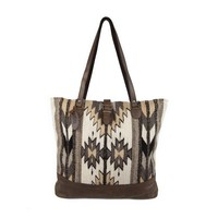 MZ Natural Diamonds Fair Trade Leather Carryall Tote Bag