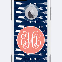 Monogrammed Otterbox Commuter Case iPhone 5c, iPhone 5/5s, iPhone 6 Galaxy 5s Arrow Design