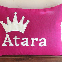 Gift for mom to be, Custom Baby Name Pillow Cover,Nursery Decor, Baby Gir Pillows