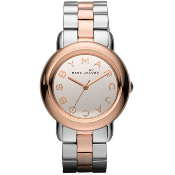 Marc by Marc Jacobs MBM3170 Women's Marci Mirror Silver Dial Rose Gold Tone Steel Two Tone Bracelet Watch