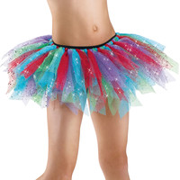 Sparkling Multicolor Shredded Tulle Tutu; Balera