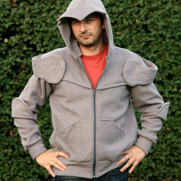 Knight Armour hoodie with zip - Medieval hoodie for men - knight hoodie - medieval cosplay - halloween knight - Ready To Ship