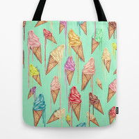 melted ice creams Tote Bag by Mike Koubou
