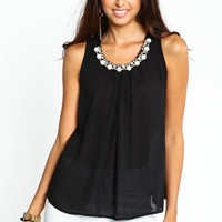 PEARL STUDDED BLOUSE