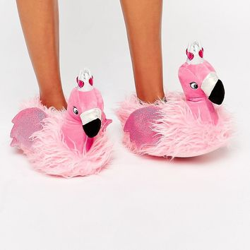 ASOS NUTCRACKER Flamingo Princess Slippers