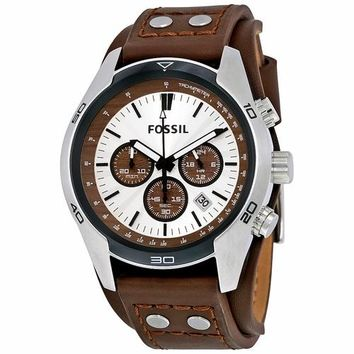 Fossil Mens CH2565 Chronograph Brown Leather Watch