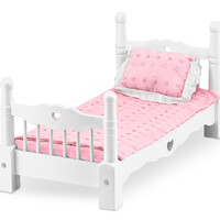 Melissa & Doug - Wooden Doll Bed