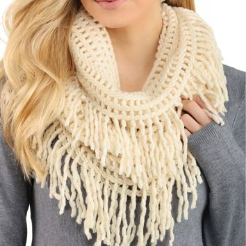 Promo- Ivory Blow Me Away Scarf