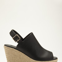 Faux Leather Wedge Espadrilles - Womens shoes and boots | shop online | Forever 21 - 2052287967 - Forever 21 EU