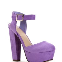 Sale- Lavender Lady-like Faux Suede Heels