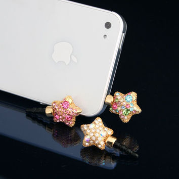 Twinkle Star Earphone Dust Plug Cellphone Charm iPhone Accessories (Choose 1 color)