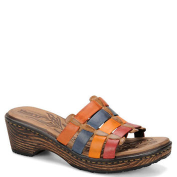 Born Lolo Full-Grain Leather Slide Sandals