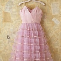 Free People Vintage Pink Layered Tulle Dress