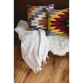 Solid Mexican Woven Blankets