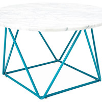 Cleo Marble Coffee Table, Turquoise