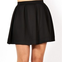 Black Back Zipper Skirt