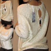 CUTE BOW SMALL BOW SWEATER
