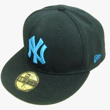 New York Yankees New Era Mlb Authentic Collection 59fifty Cap Black Blue