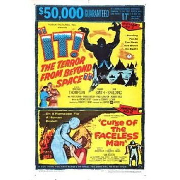 It Terror From Beyond Space Combo Movie poster Metal Sign Wall Art 8in x 12in