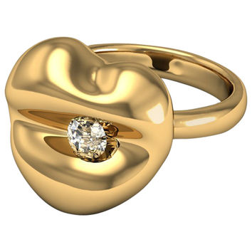 Barbara Nanning & Sparkles Kiss Kiss Diamond Gold Ring