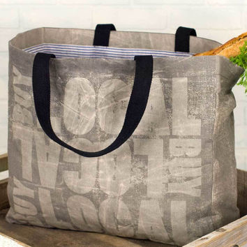 Large Buy Local Grocery Canvas Tote Bag