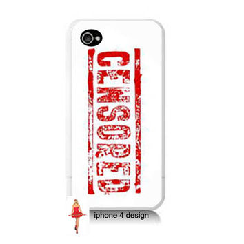 CENSORED 4 case, Iphone case, Iphone 4s case, Iphone 4 cover, i phone case, i phone 4s case