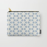 Acrylic Blue Pattern Circles Carry-All Pouch by Doucette Designs