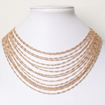 Chain-link Layered Necklace
