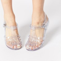 New Look Jellytot Embellished Flat Jelly Shoes