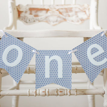 One banner- Highchair banner- I am one banner- FIrst Birthday banner- Boy Birthday Banner